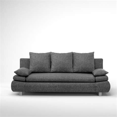but canap convertible 3 places naho canapé convertible 3 places 205x97 cm gris achat