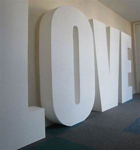 Giant love letters polystyrene letters and logos for Big 3d letters
