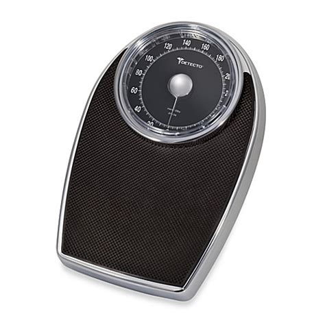Detecto™ Chrome Professional Analog Bathroom Scale Bed