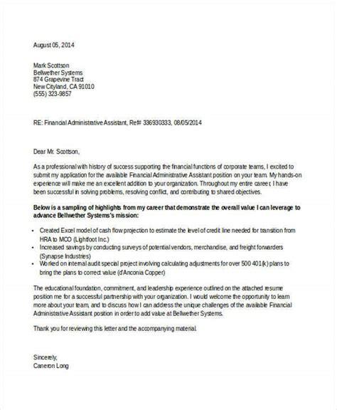 contoh application letter administrative assistant