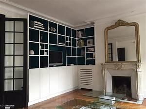 bibliotheque et placards sur mesure dans un appartement With la maison du placard paris