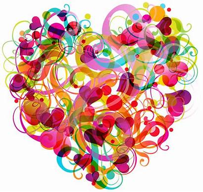 Colorful Abstract Heart Clipart Hearts Transparent Clip