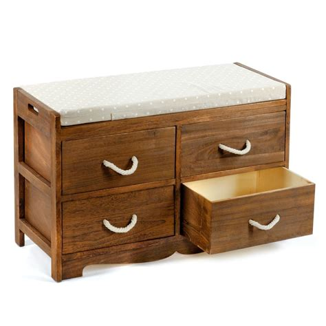 Benches With Drawers by Wooden Storage Bench With Drawers