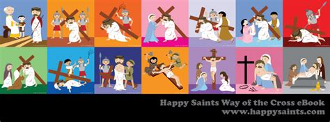 happy saints sorrowful mysteries     cross banners