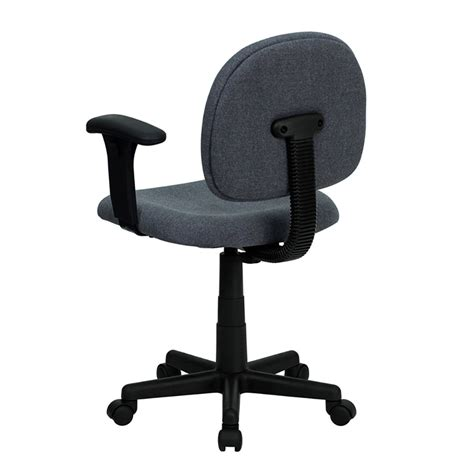 low back ergonomic gray fabric swivel task chair with