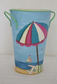 Sailboat Umbrella by Vintage Nautical Tin Trash Can Sailboat Sailing Sea
