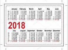 Calendário de bolso grade 2018 — Vetor de Stock © orensila