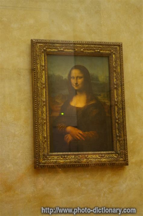 mona lisa photopicture definition  photo dictionary mona lisa word  phrase defined