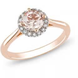 pink morganite engagement ring 1 carat and morganite engagement ring in pink gold jewelocean