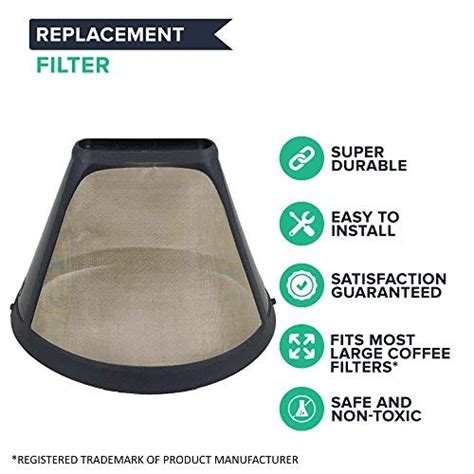 (this only needs to be done once, even if the coffee maker is not used for extended periods of time. Think Crucial Replacement for Cuisinart #4 Coffee Filter Fits DTC-975BKN Thermal 12-Cup ...