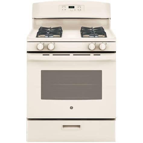 home depot standing ls ge 30 in 4 8 cu ft free standing gas range in bisque