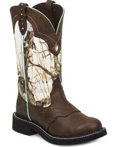 Camo Round Toe Cowgirl Boots