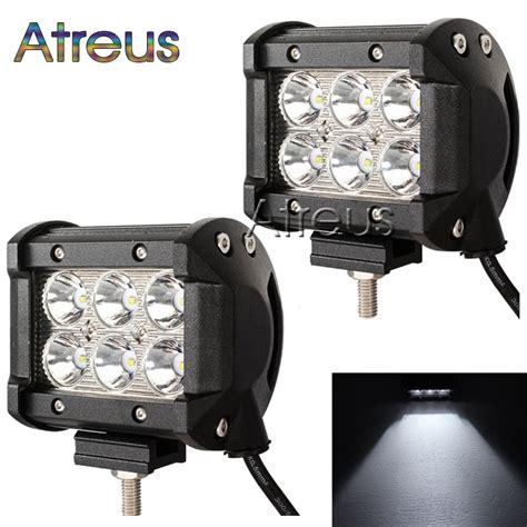 assem 18w led spot work 2x 4inch 18w car led work light bar 12v 24v spot drl for