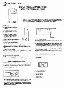 Intermatic Dt1 Timer Operation  U0026 User U2019s Manual Pdf View