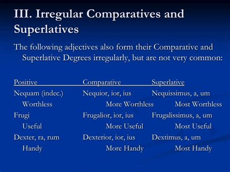 Positive, Comparative, Superlative