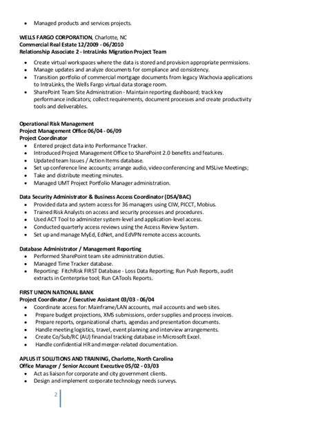 proj analyst resume hm 072013