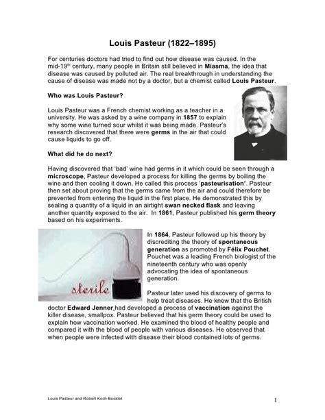 Louis Pasteur And Robert Koch Booklet