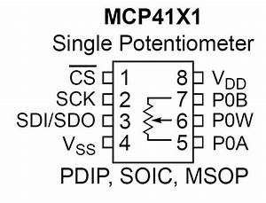 Wiring A Digital Potentiometer With Mcp4161