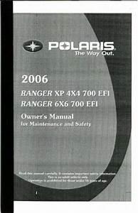2006 Polaris Ranger 4x4 700 Efi And Ranger Xp Owners Manual