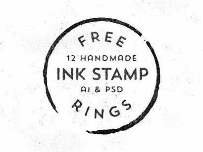 Stamp Vector Handmade Ink Rings Graphic Stamps