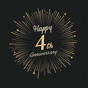 Happy 4th Anniversary with fireworks and star - AEC Living