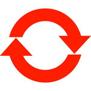 Red Arrow Circle Clip Art
