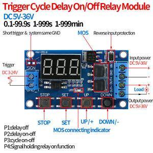 Dual Mos Control Cycle Trigger Timer Delay Relay