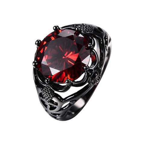 vintage cut ruby wedding ring s 10kt black gold filled size 5 12 ebay