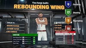 Nba 2k20 Rebounding Wing Build Youtube