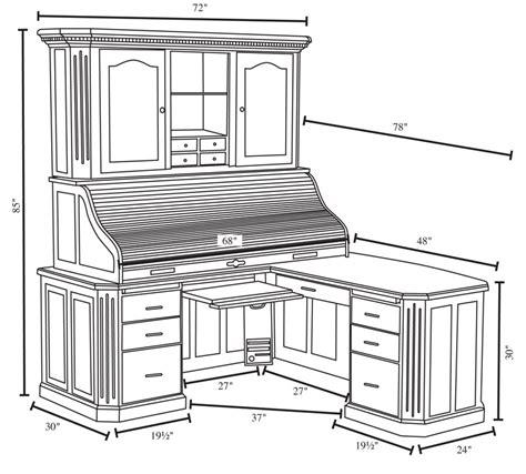 fifth avenue executive corner roll top desk with hutch