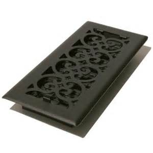 decor grates 4 in x 10 in black steel floor register