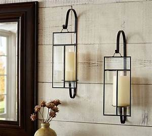 black iron and paned glass candle wall sconce With kitchen colors with white cabinets with wall mounted votive candle holder