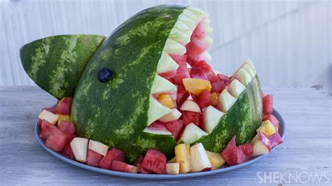 themed serving tray fruit filled watermelon shark bowl it 39 s easier than you