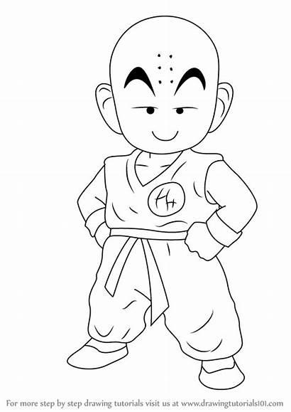 Dragon Ball Draw Step Drawing Kuririn Goku