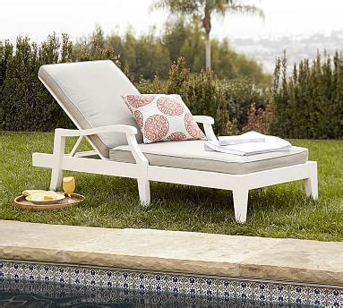 Pottery Barn Chaise Lounge by Hstead Painted Outdoor Chaise Lounge White Pottery Barn