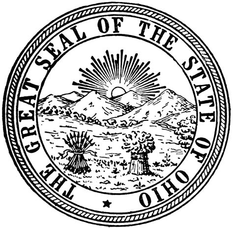 Ohio State Seal Coloring Pages
