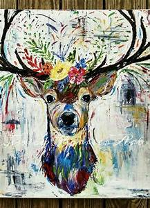 """20x24"""" Original Abstract Deer Painting 