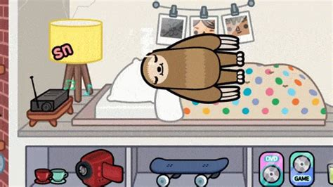 sloth sleep gifs find share  giphy