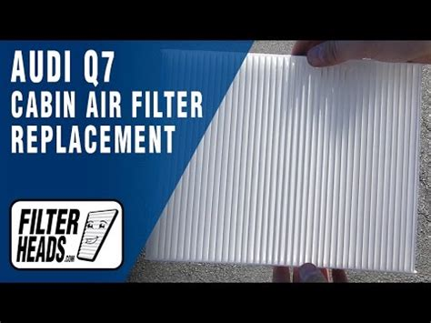 How Replace Cabin Air Filter Audi Youtube