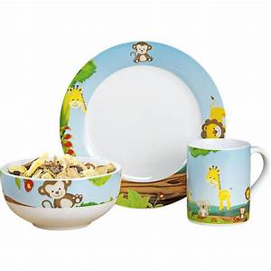 Kindergeschirr Porzellan Wmf : kindergeschirr sunny keramik 3 tlg mehrfarbig yomonda ~ Frokenaadalensverden.com Haus und Dekorationen