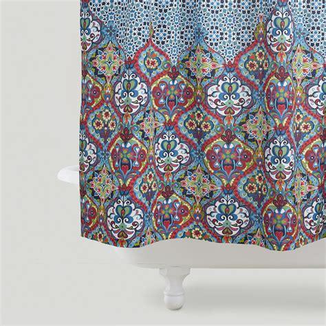 moroccan pattern curtain panels moroccan shower curtain world market