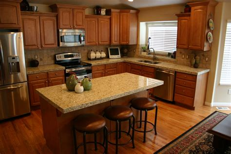 the granite gurus giallo ornamental kitchen before and