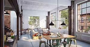 Style Industriel Salon : d co d int rieure le style industriel groupe launay ~ Teatrodelosmanantiales.com Idées de Décoration