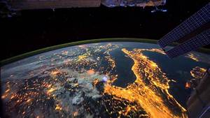 The Earth in the night from space - Our Planet