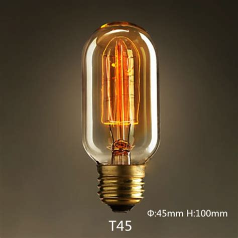 tungsten filament vintage e27 bulb pendant light blub 110v