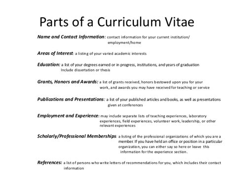 Listing Publications And Presentations On Resume by Revising My Curriculum Vitae