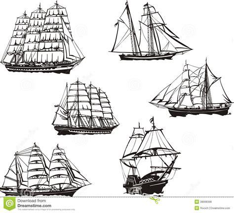 Sketches Of Sailing Ships Stock Vector Image 38998398