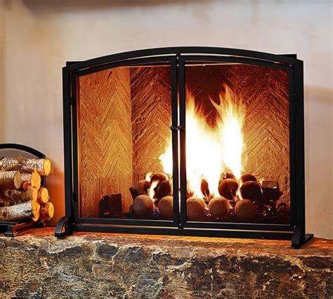 pottery barn fireplace screen pb classic fireplace single screen pottery barn