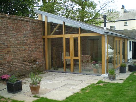 ad joinery and building glass fronted garden room