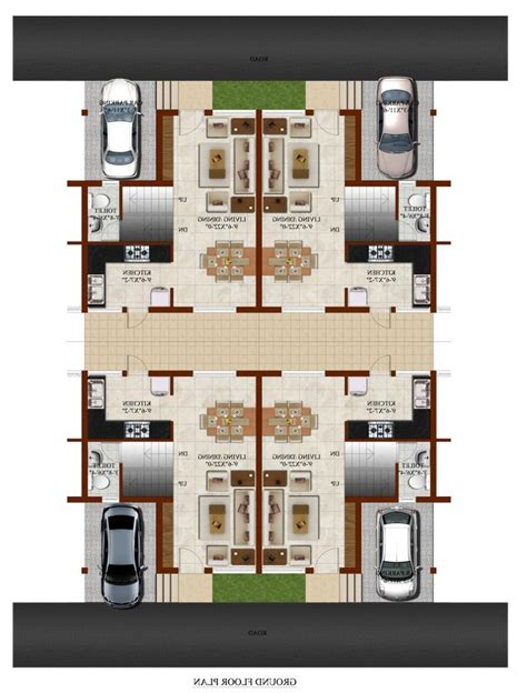 Row Home Plans by Row House Plans With Photos